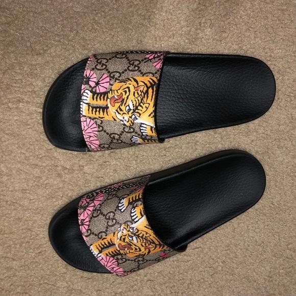 ae9c14246 Gucci Shoes | Pursuit Bengal Slides | Poshmark